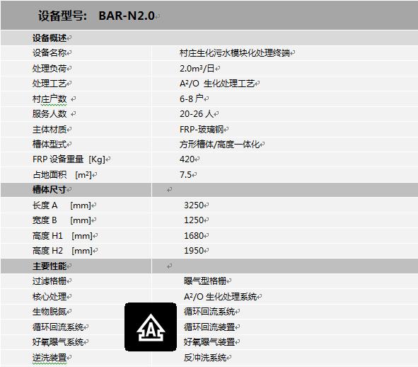 A2/O小型净化槽
